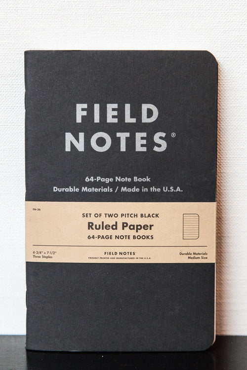 PITCH BLACK MEMO BOOK 2-PACK LARGE
