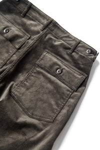 US ARMY SLIM FIT FATIGUE PANTS BROWN CORDUROY