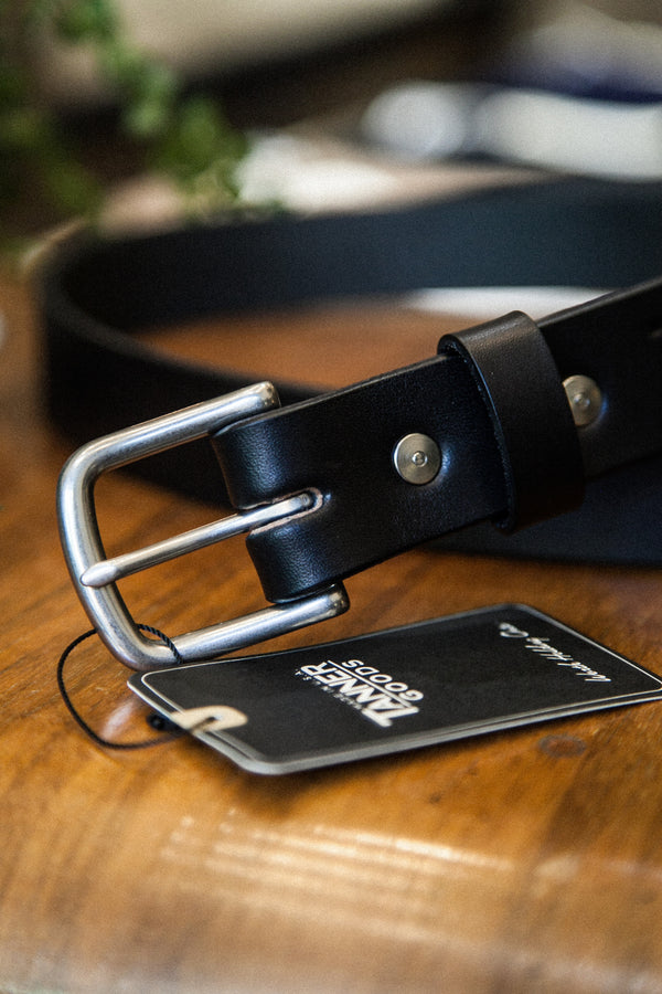 CLASSIC BELT - BLACK/BRUSHED STEEL