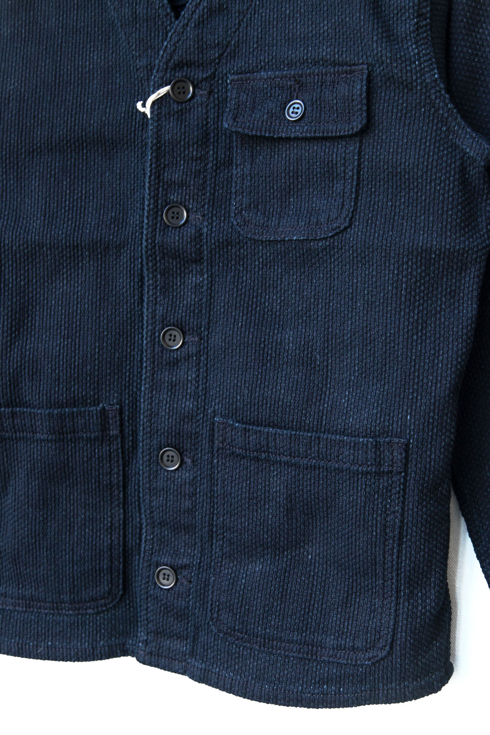 NO-COLLAR SASHIKO JACKET