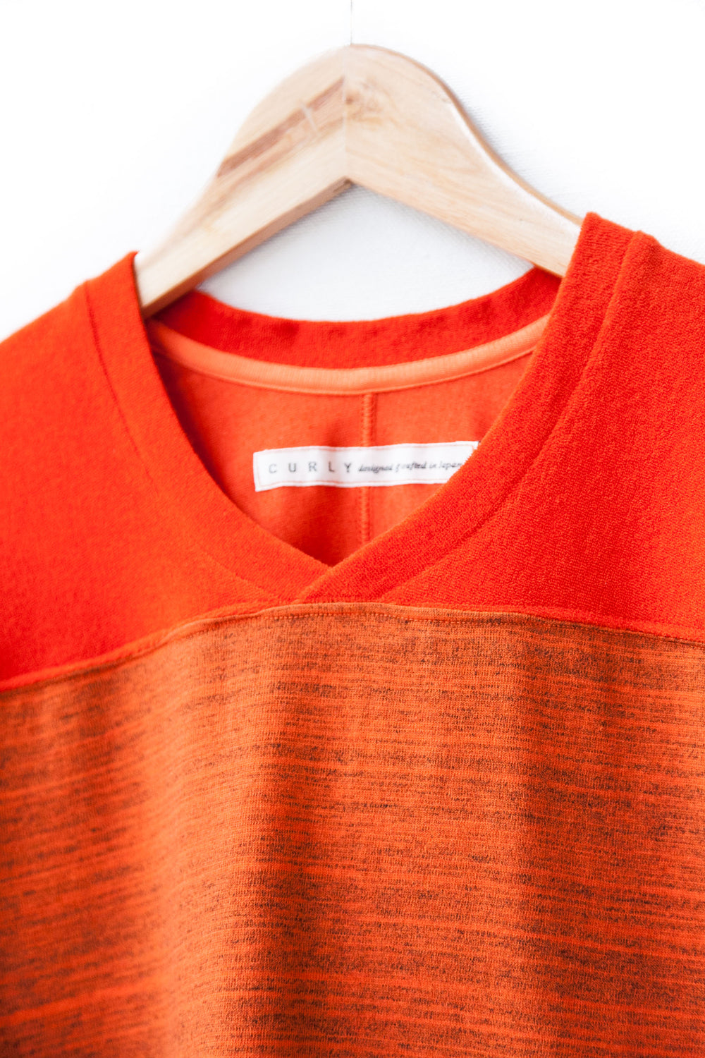 "CAP SHOULDER TEE WITH GRADATION DYE ""ORANGE"""