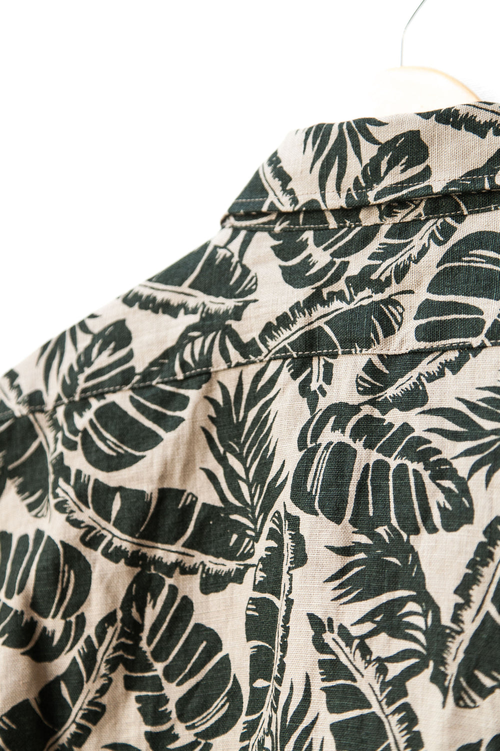 "SHORT SLEEVE POPOVER ""TAN PALM PRINT"""
