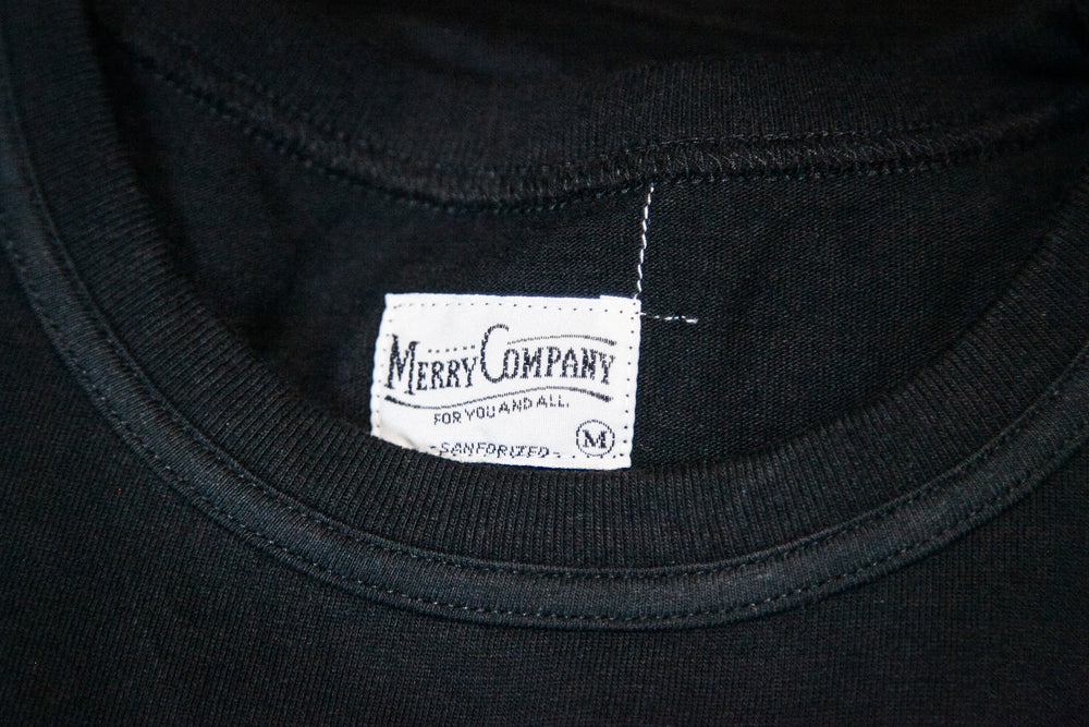 MERRY POCKET TEE - BLACK