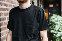 LOOPWHEELED POCKET TEE - BLACK