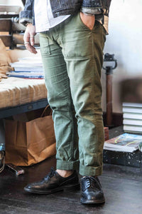 US ARMY 'SLIM FIT' FATIGUE PANTS – OD GREEN