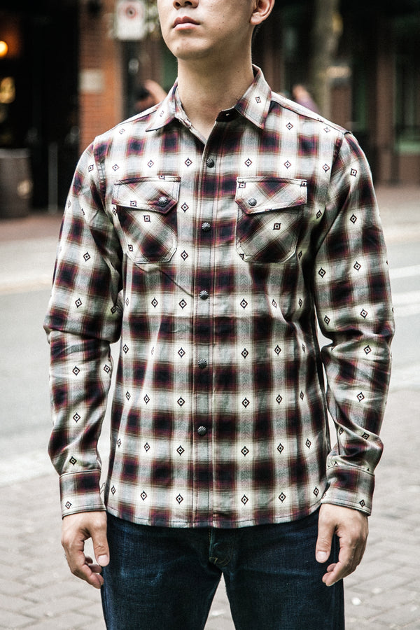 CROSSCUT WESTERN - RED JACQUARD PLAID