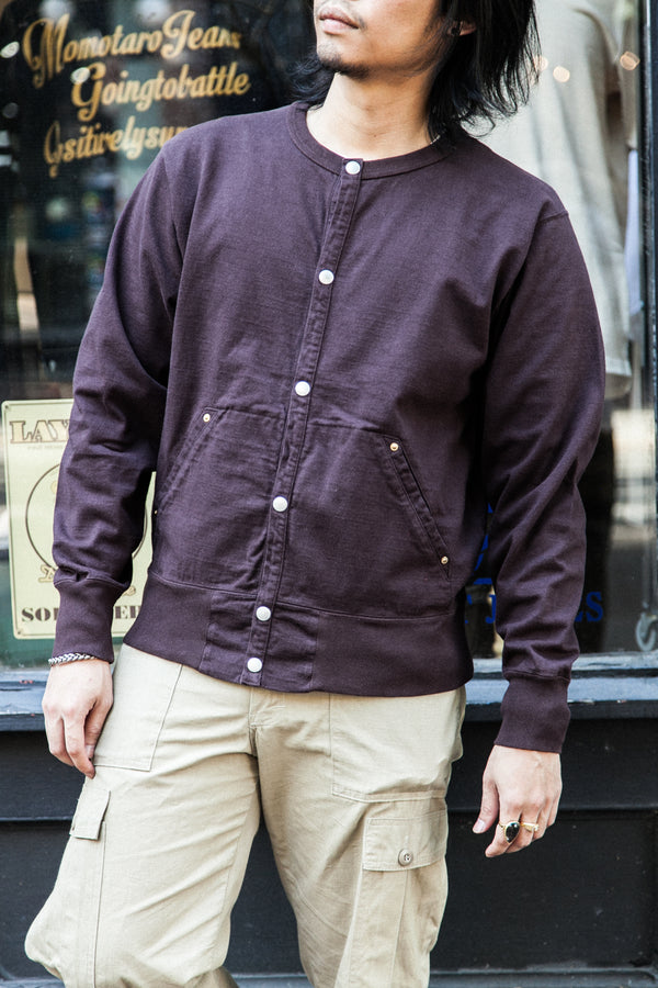 HEAVYWEIGHT SNAP L/S CREW - DARK BROWN