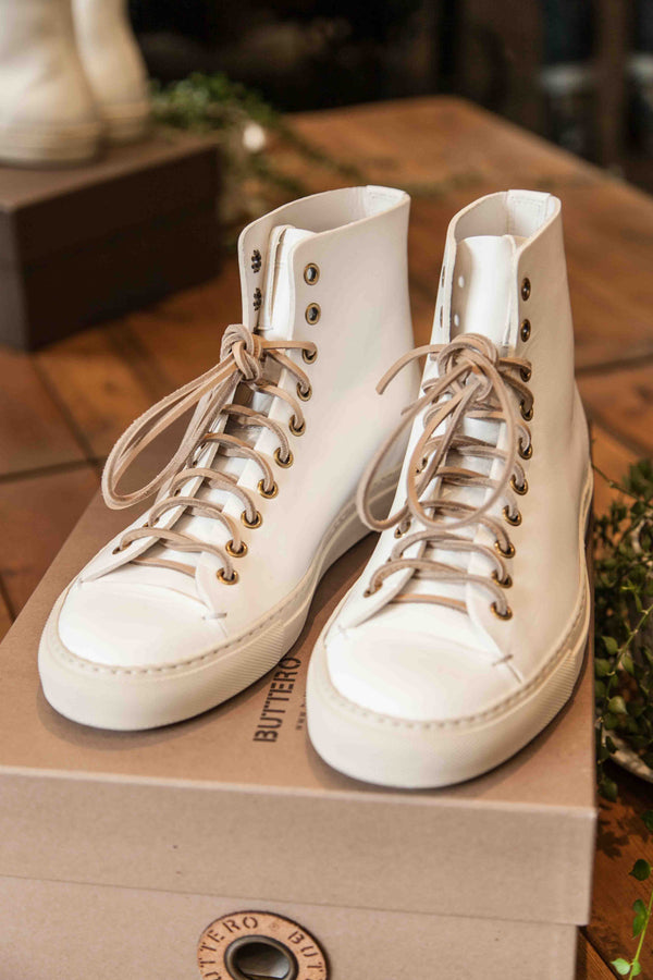 TANINO HIGH TOP SNEAKERS – BIANCO