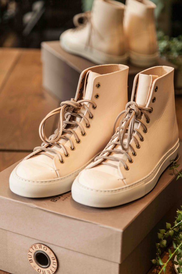 TANINO HIGH TOP SNEAKERS – NATURAL