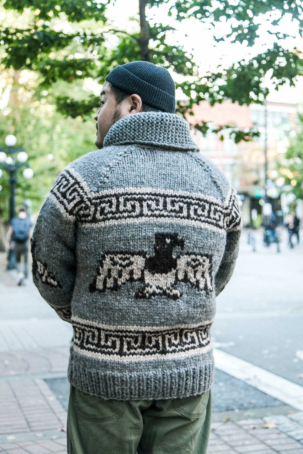"COWICHAN ""THUNDERBIRD"" ZIP UP SWEATER - SMOG HEATHER"