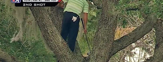 Sergio Garcia Hitting Shots Out of Trees