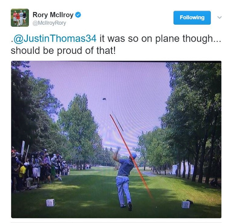 Rory Tweet Justin Thomas