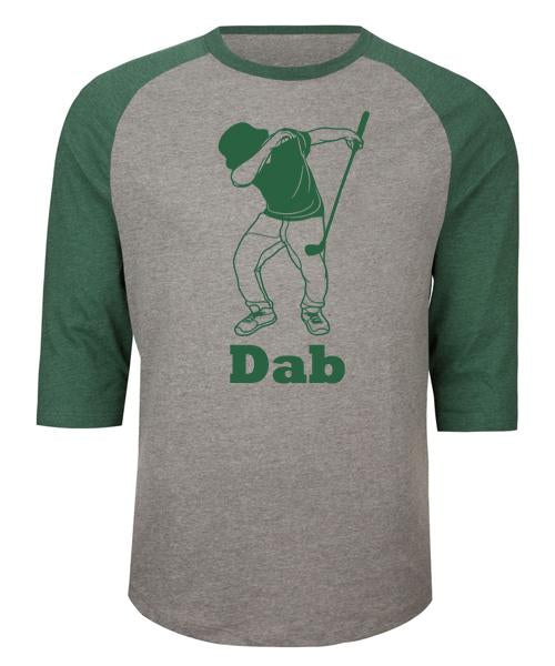Golf Dab 3/4 Length Raglan Tee