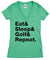 Women's Eat Sleep Golf Repeat Short Sleeve Tee