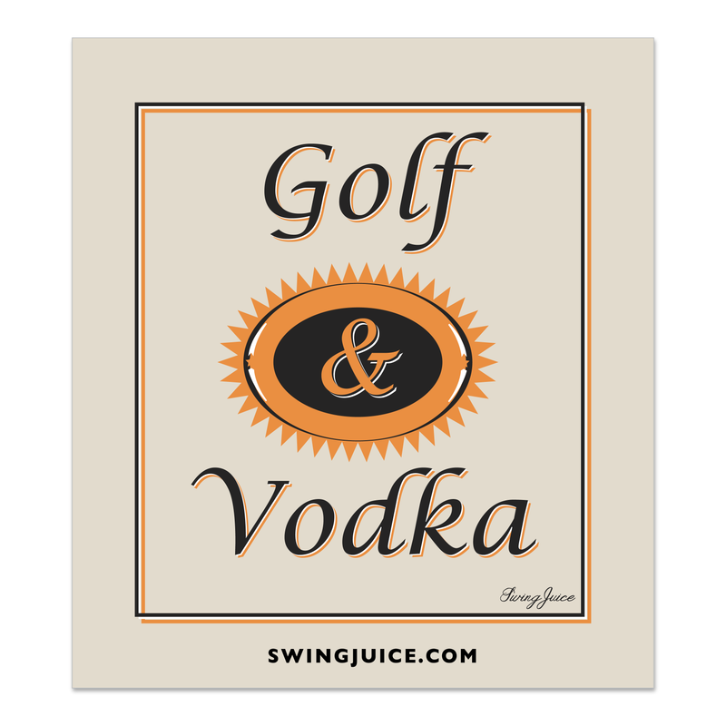Golf & Craft Vodka Sticker