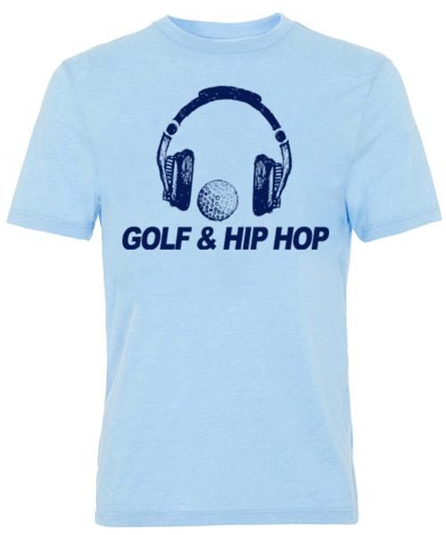 Final Sale - Golf & Hip Hop Short Sleeve Tee - Light Blue