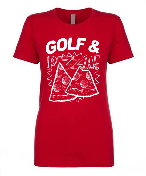 Women's Golf & Pizza Short Sleeve Tee