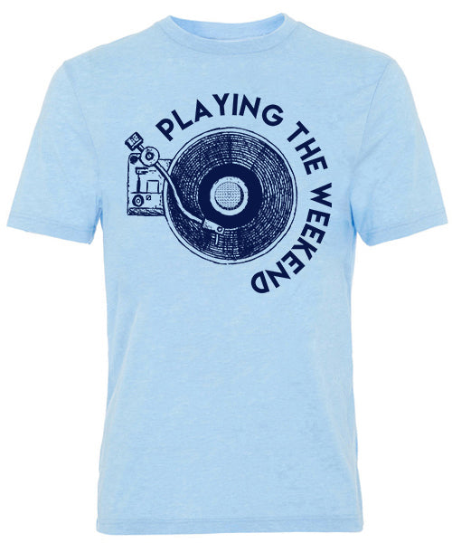 Final Sale - Playing the Weekend Short Sleeve Tee - Light Blue