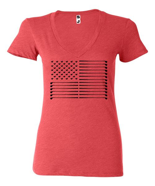 Women's Golf Flag Short Sleeve Tee