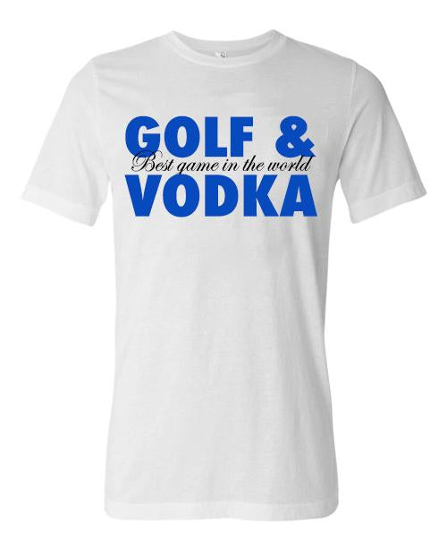 Golf & Vodka Short Sleeve Tee