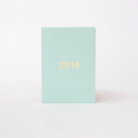 40% OFF - Soft Cover Diary 2016 - Mint/Gold