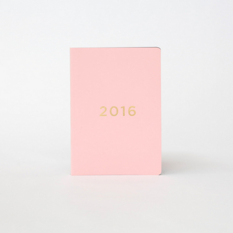 40% OFF - Soft Cover Diary 2016 - Pink/Gold