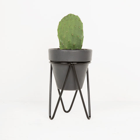 Black Hair Pin Pot Stand - Small Tabletop