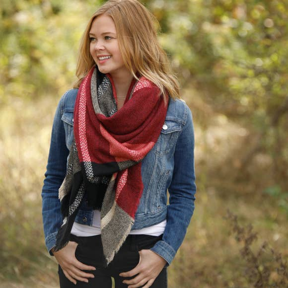 Blanket Scarf - Mountain Brick