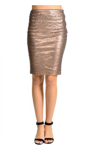 Bronze Sequin Skirt