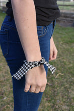Load image into Gallery viewer, Black Checkered Scrunchie
