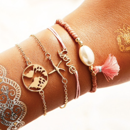 Shell Summer Bracelet Set