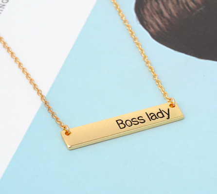 Boss Lady Necklace in Silver or Gold