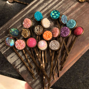 Assorted Bobby Pins Druzy