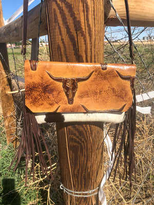 Hair on Hide Handbag - Steer