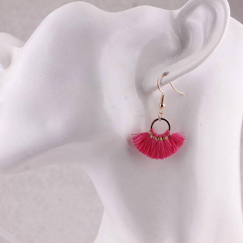 Mini Summer Bright Tassel Earrings