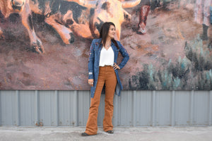 Corduroy High Waisted Flares