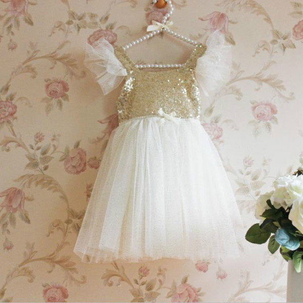 Sparkle Tulle Dress Ivory