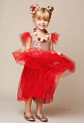 Sparkle Red Tulle Dress