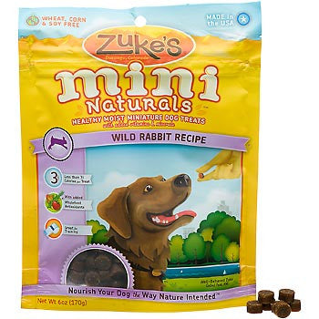 Zuke's Mini Natural Rabbit Dog Treats