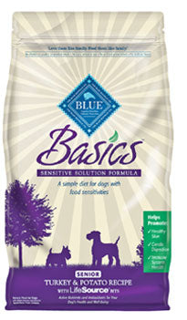Blue Buffalo Basics Senior Turkey and Potato Dry Dog Food