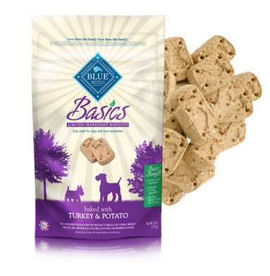 Blue Buffalo Basics Turkey and Potato Dog Biscuits 6oz Bag