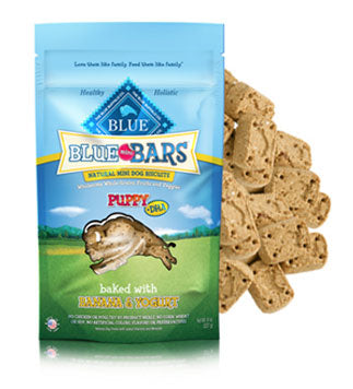Blue Buffalo Blue Mini Bars Bananas and Yogurt for Puppies Dog Treats 8oz Bag