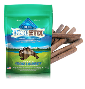 Blue Buffalo Blue Stix Chicken and Brown Rice Dog Treats 6oz Bag