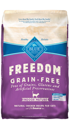 Blue Buffalo Freedom Grain-Free Chicken Mature Indoor Dry Cat Food