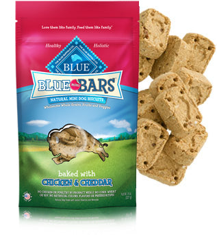 Blue Buffalo Blue Mini Bars Chicken and Cheddar Natural Mini Dog Treats 8oz Bag