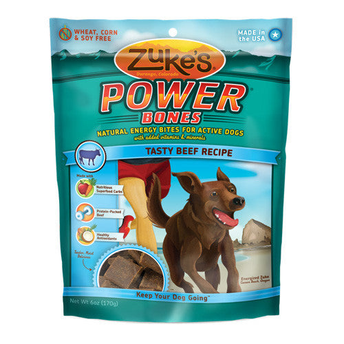 Zuke's Power Bones Beef Dog Treats
