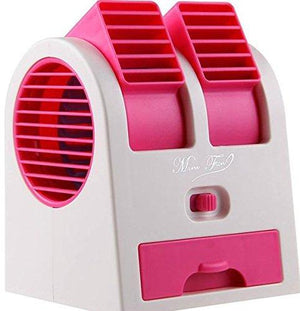 Portable Dual Bladeless Small Air Conditioner Water Air Cooler Powered By Usb & Battery Use Of Car/Home/Office