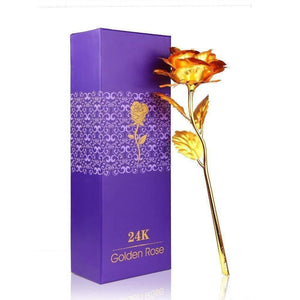24K Gold Rose + Silver Pendant Gift Box