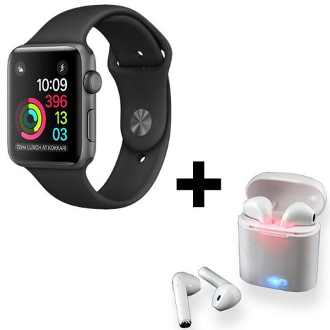 Image of Android/iOS Smart Watch + Pair of Bluetooth HBQI7 Headset (FREE)