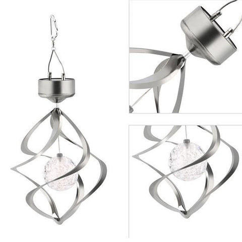 Image of British Solar Wind Chime Lights